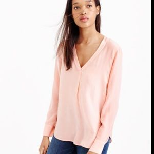 J. Crew Peach easy fit V-neck sweater #3176